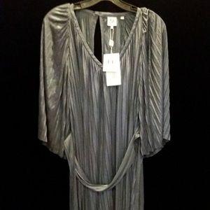 Halston pleated dress